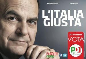 Bersani Italia giusta