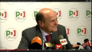 Bersani conferenza stampa bis