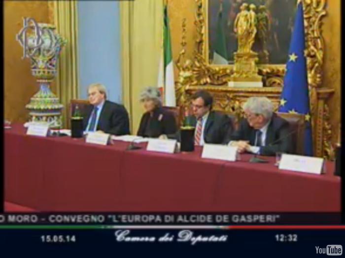 Il tavolo del Convegno nella Sala di Montecitorio  Aldo Moro