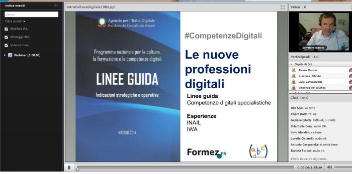 Il webinar delle competenze digitali